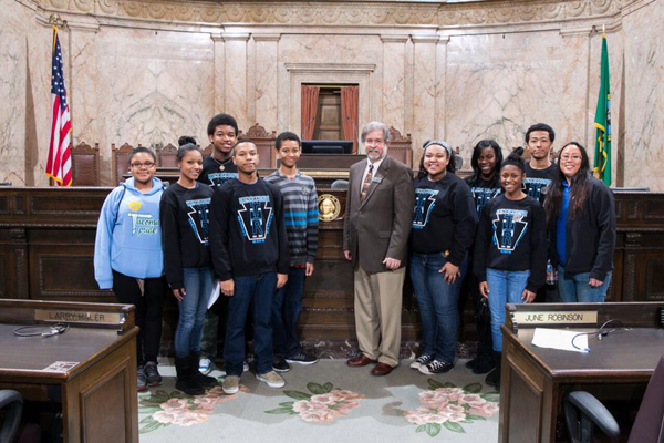 Keystoners from BGCs of South Puget Sound with Rep. Steve Kirby at the Washington State Capitol.