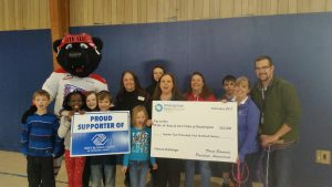 Club youth in Spokane celebrate the Fitness Challenge kickoff